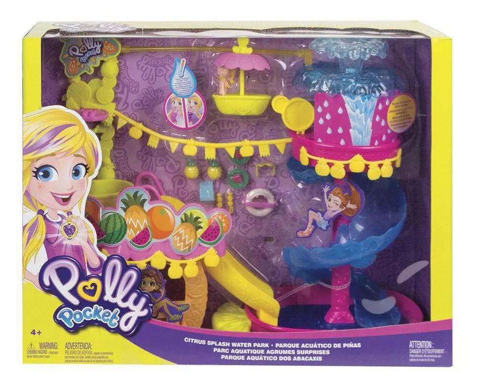 Polly Pocket Parque Aquático do Abacaxi  - Playset e Boneca -  Mattel