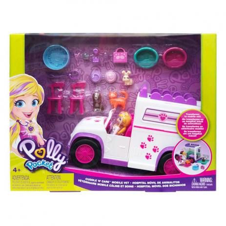 Polly Pocket Van Hospital Móvel dos Bichinhos - Mattel