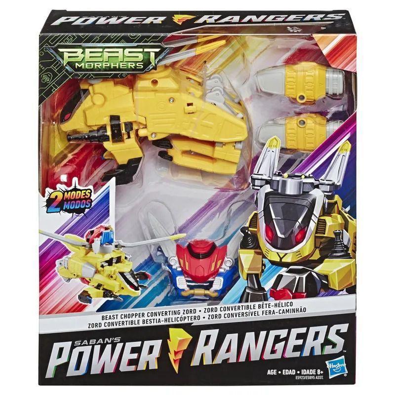 Power Rangers Beast Morphers Transformável Conversível Helicóptero – 2 em 1 - Hasbro