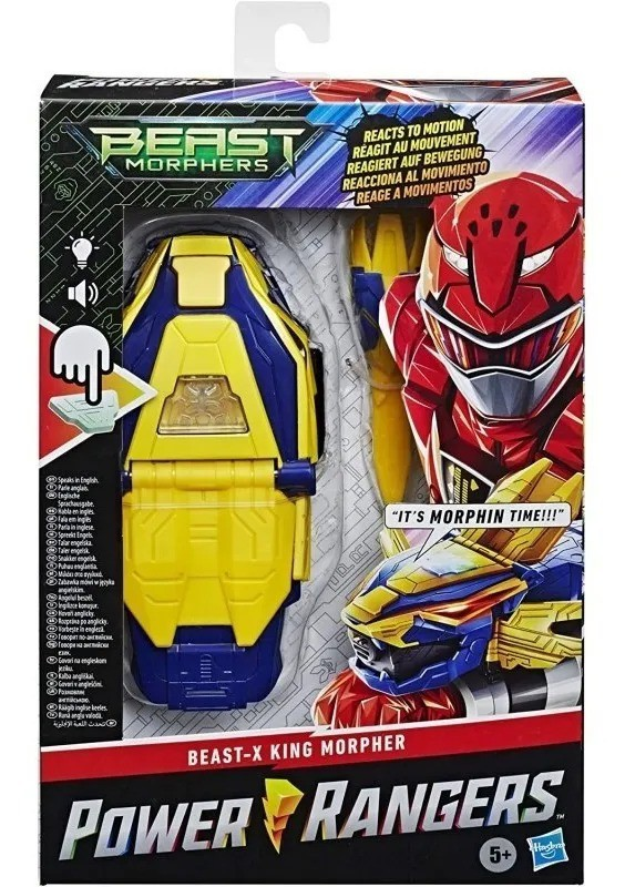 Power Rangers Morfador Beast-x King Com Sensor Movimento, luz e Som Portugues - Hasbro