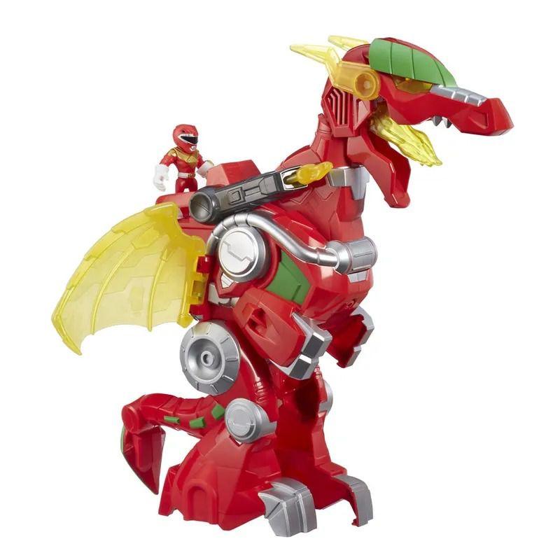 Power Rangers Morph Sabans - Red Ranger e Dragon Thunderzord 39 cm Com Som e luz - Hasbro