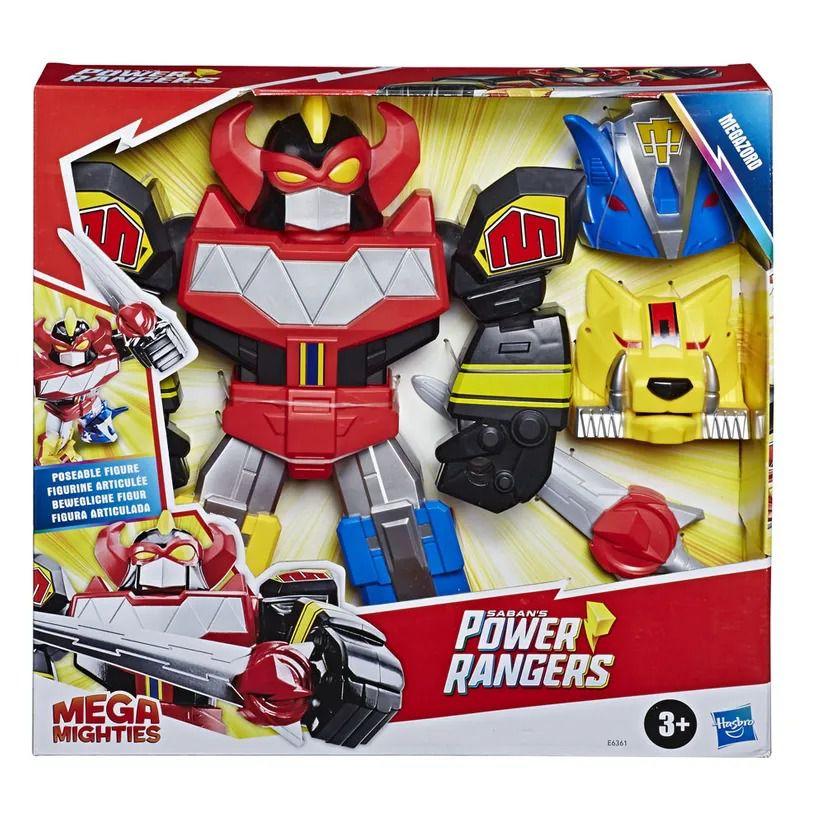 Power Rangers Sabans Mega Mighties -  Megazord Articulado 30 cm - Hasbro