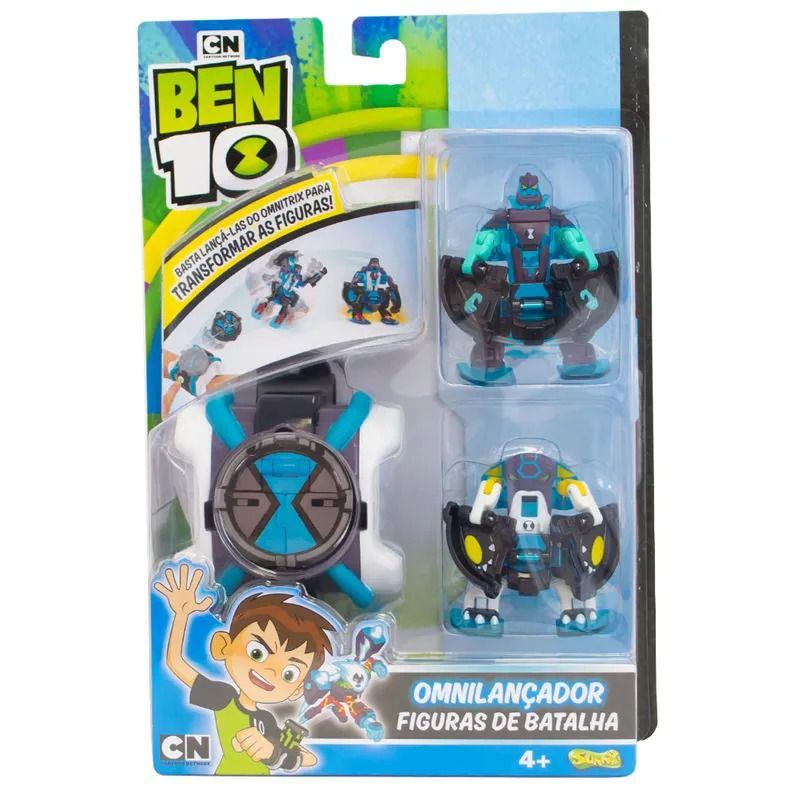 Relógio Omnitrix Lançador Figura batalha C/2 Bala de Canhão e Diamante -  Sunny