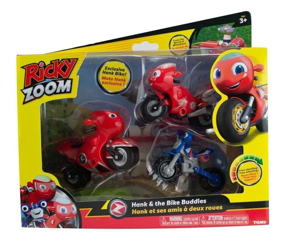 Ricky Zoom Kit 3 Motos - Hank & The Bike Buddies - Sunny