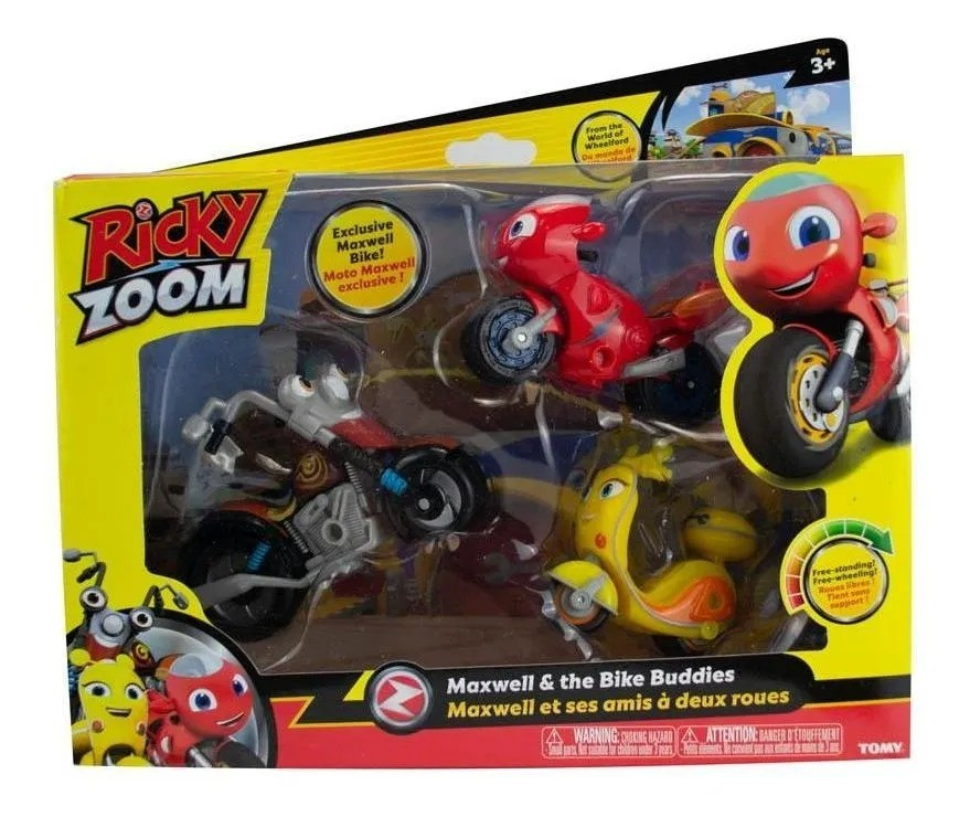 Ricky Zoom Kit 3 Motos - Maxwell & The Bike Buddies - Sunny
