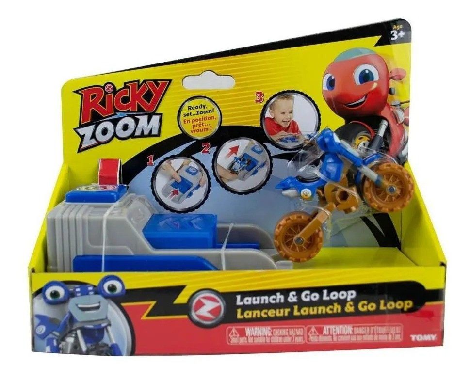 Ricky Zoom Moto Com Lançador - Loop - Sunny