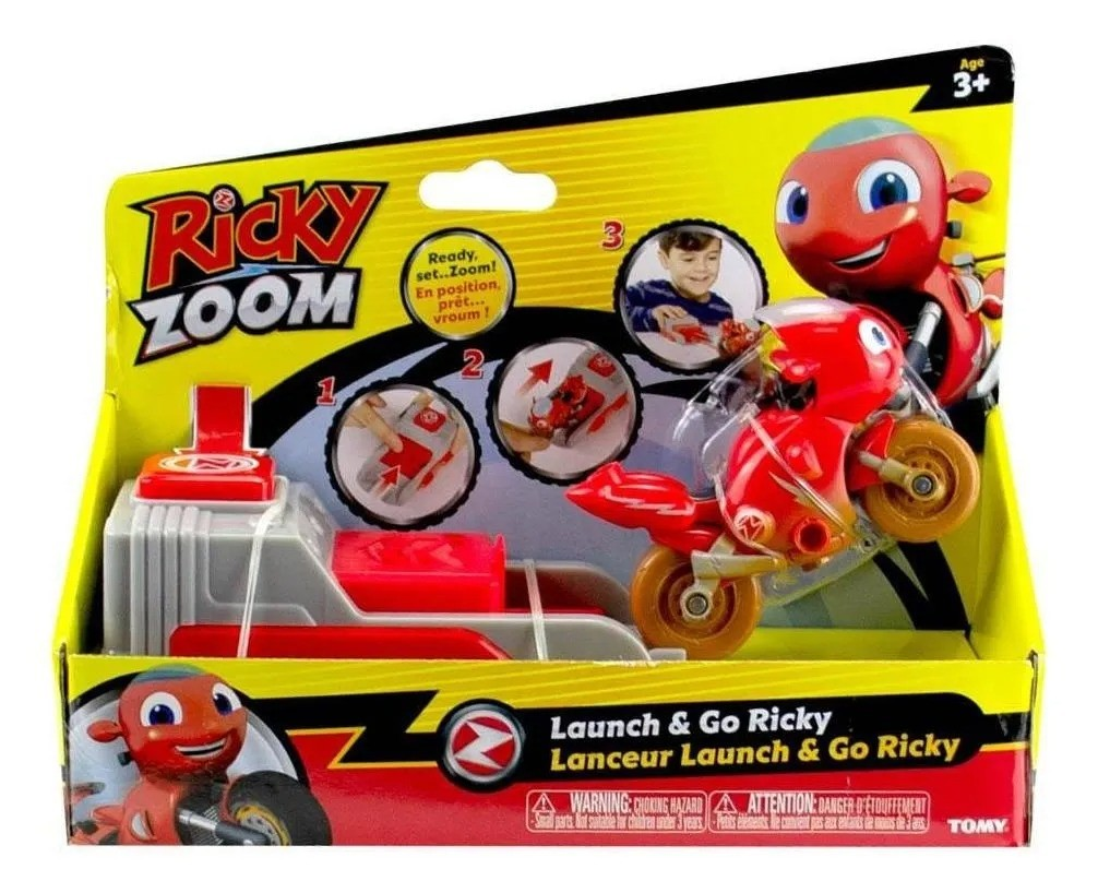 Ricky Zoom Moto Com Lançador - Ricky - Sunny