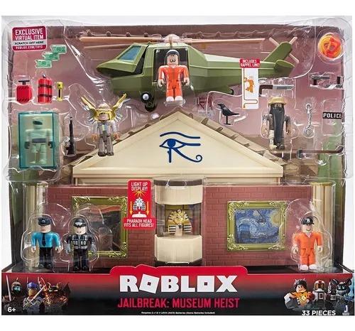 Roblox Jailbreak: Playset Luxo Museum Heist Fuga Museu C/ 6 figuras  33 peças