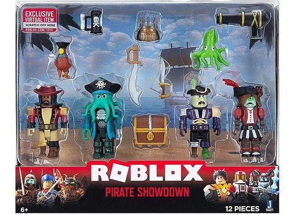 Roblox Pack C/ 4 Bonecos e 8 Acessórios  - Pirate Showdown - Sunny