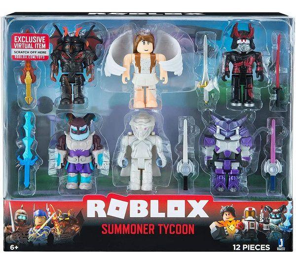 Roblox Pack C/ 6 Bonecos e 6 Acessórios  - Summoner Tycoon - Sunny
