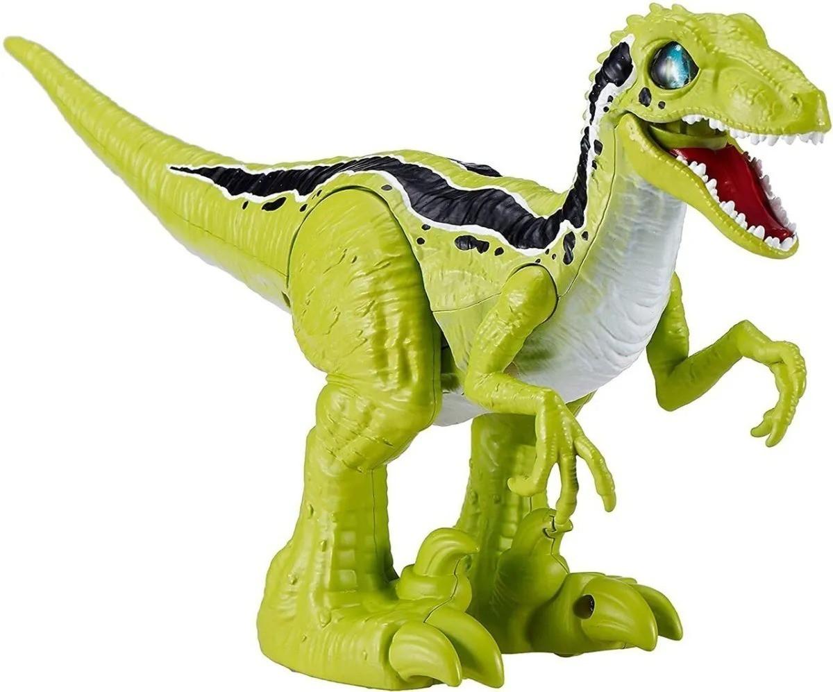 Robô Alive - Dinossauro Raptor Eletronico C/ Ovo Slime - Candide