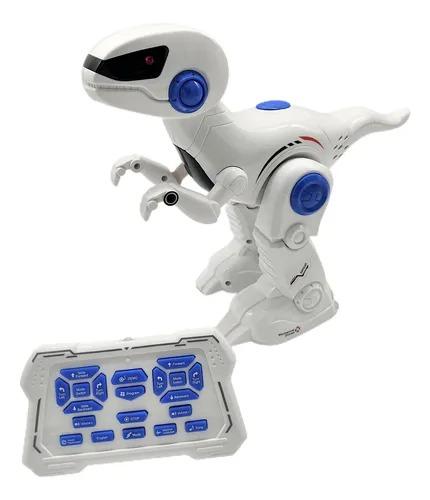 Robô Dinossauro Dinobot Controle Remoto Infravermelho Multifunções  Movimento , Som e Luz -   Toyng