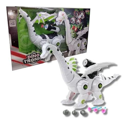 Robô Dinossauro Dragão DinoTronic   Som, Movimento, Bota Ovos, Lança Dardos, Sopro Vapor -   Toyng