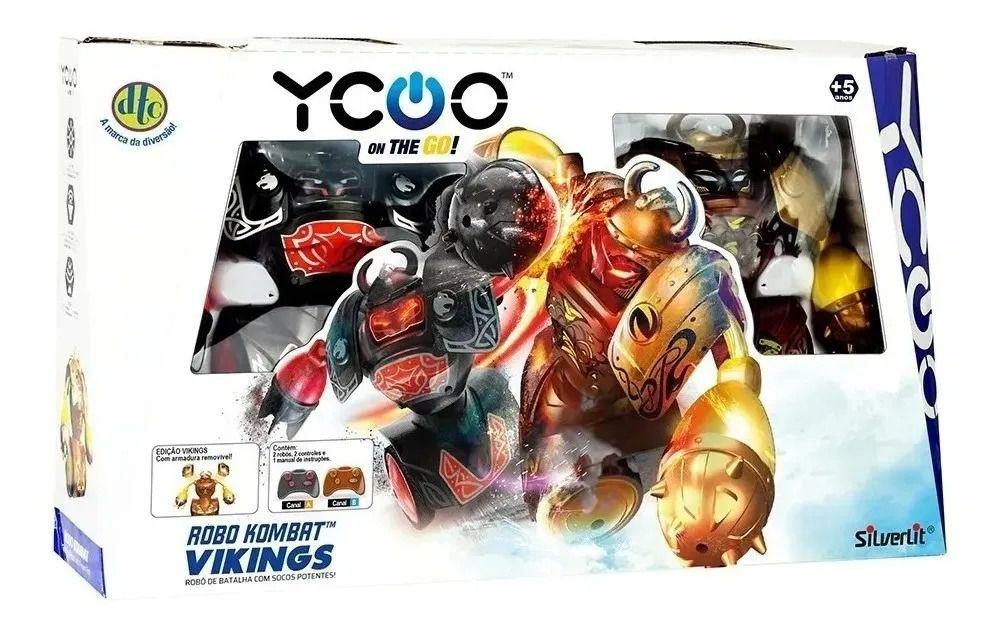 Robô Kombat de batalha Boxeadores Vikings Silverlit C/ controle remoto - DTC