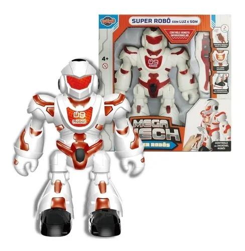 Robô Super Mega Mech Controle Remoto Infravermelho Multifunções  Movimento , Som e Luz -   Toyng
