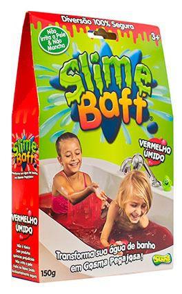 Slime Baff Vermelho – Transforma água Banho em Gosma Pegajosa 150gr - Sunny   - Doce Diversão