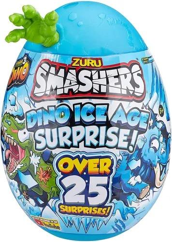 Smashers Ovo Dino Ice Age Grande Surprise  25 Surpresas 30 cm  Verde -  Fun