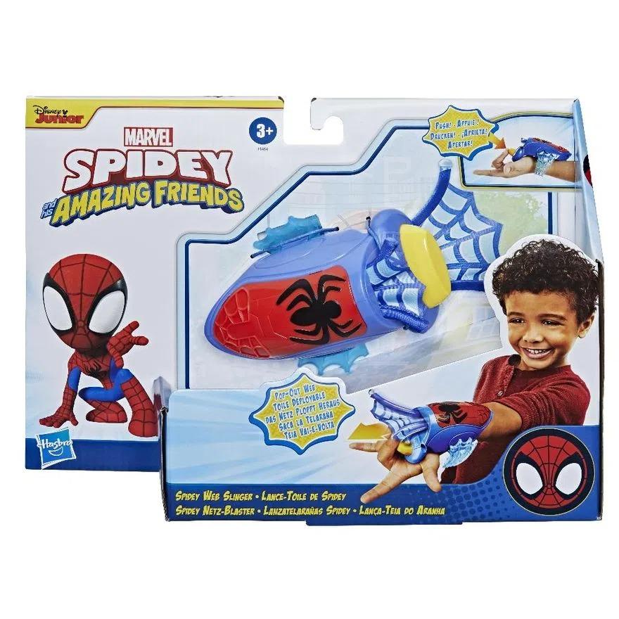 Spider Man Lança-Teia do Aranha - Spidey Amazing Friends - Teia Vai e Volta -  Hasbro