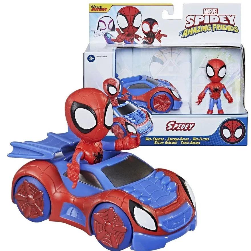 Spider Man Veiculo e Boneco Articulado - Spidey Amazing Friends - Homem Aranha -  Hasbro