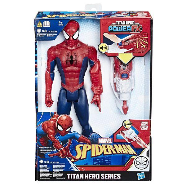 SpiderMan Titan Power FX - Homem Aranha 30 cm Com Som Português E Lança Dardo Hasbro