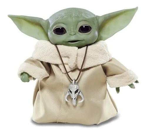Star Wars Mandalorian - Baby Yoda Interativo Animatrônica – 25 sons e movimentos - Hasbro