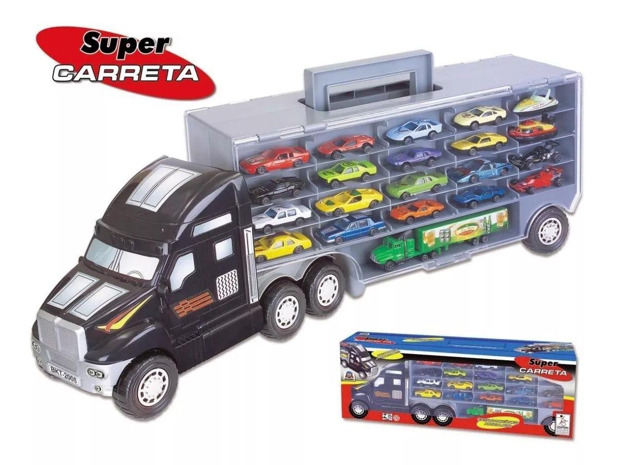 Super Carreta Cegonha C/ 20 Carrinhos e 1 Mini Carreta - Braskit