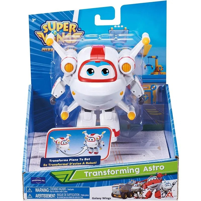 Super Wings Change Up Transforming - Astro Galaxy Wings 13 cm - Fun Divirta-se