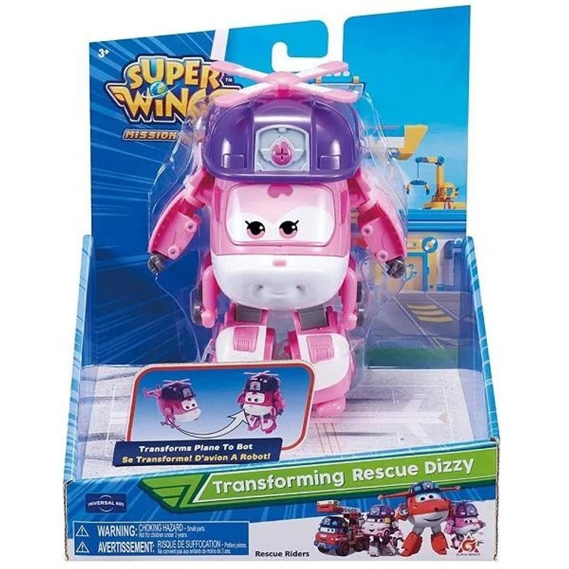 Super Wings Change Up Transforming - Dizzy Rescue Riders 13 cm - Fun Divirta-se