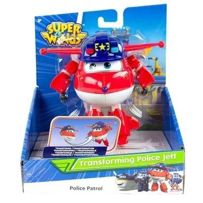 Super Wings Change Up Transforming - Jett Police Patrol 13 cm - Fun Divirta-se