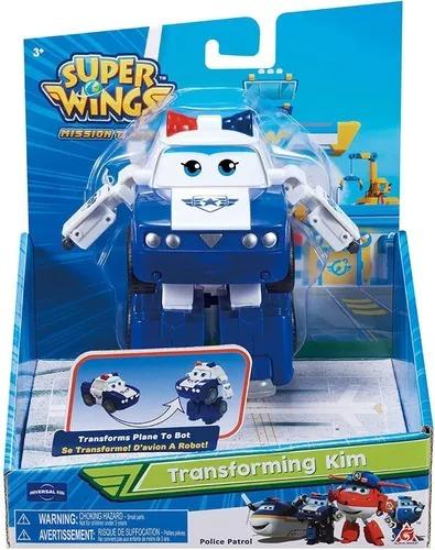 Super Wings Change Up Transforming - Kim Police Patrol 13 cm - Fun Divirta-se