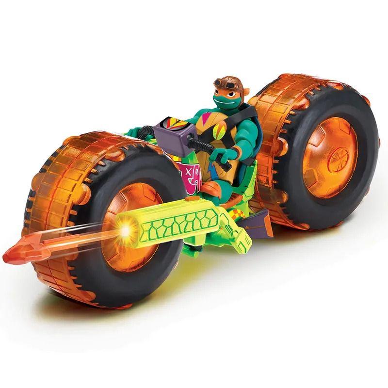 Tartarugas Ninja Ascensão – Veículo Moto Shell Hog Com Boneco Michelangelo - Sunny
