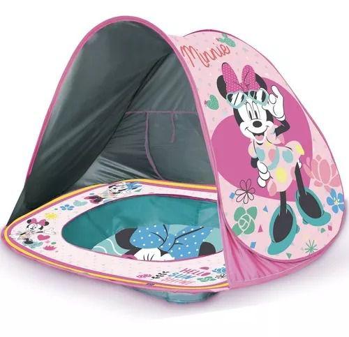 Toca Portátil C/ Piscina Praia Minnie Disney Baby Proteção Uv – Zippy Toys