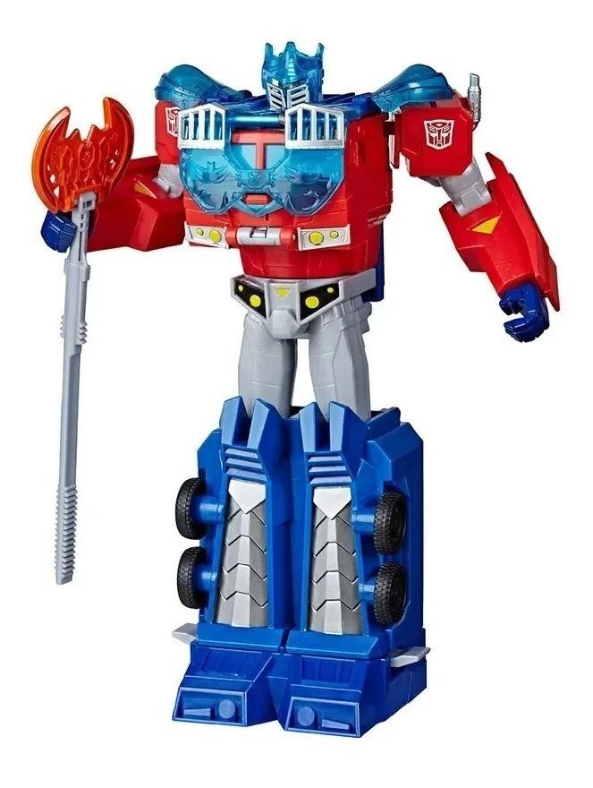 Transformers Bumblebee Cyberverse - Armadura Energon -  Optimus Prime 27 cm - Hasbro