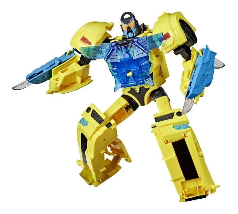 Transformers Cyber Battle Call Officer - Bumblebee – 27 cm C/ Som ,Luz , Ativado por Voz – Hasbro