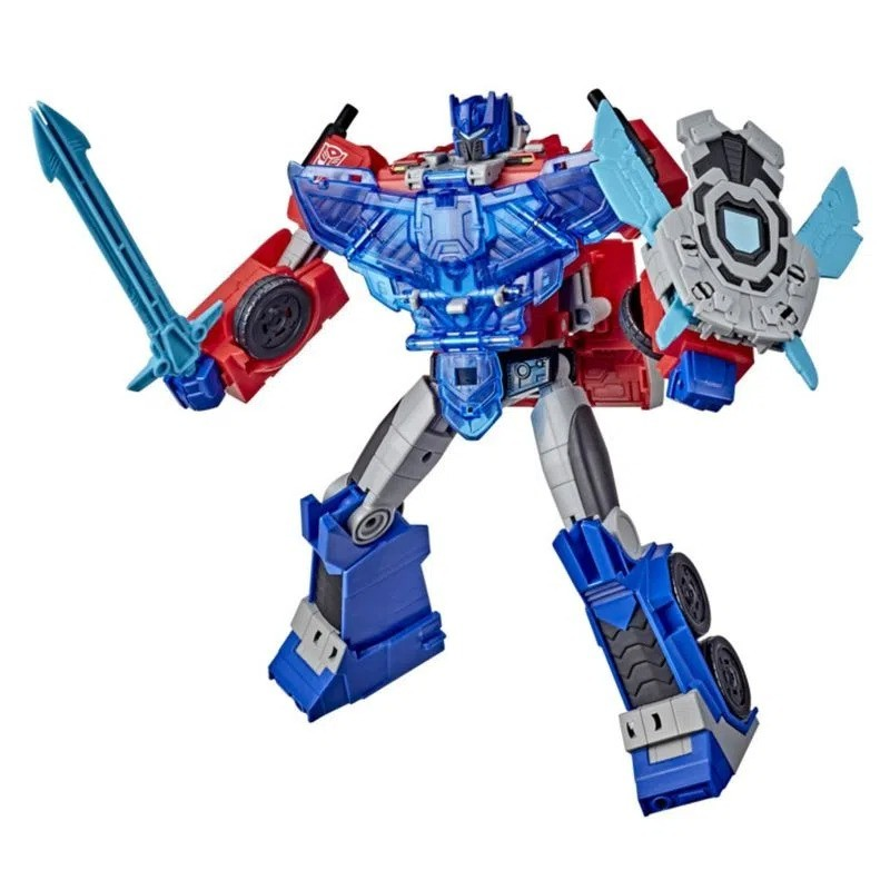 Transformers Cyber Battle Call Officer - Optimus Prime – 27 cm C/ Som ,Luz , Ativado por Voz – Hasbro