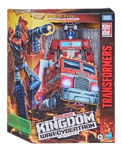 Transformers Kingdom War for Cybertron Lider Optimus Prime - Hasbro