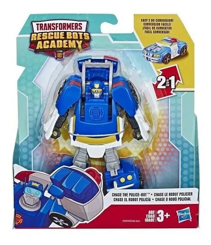 Transformers Rescue Bots Academy 2 Em 1- Chase 13Cm - Hasbro