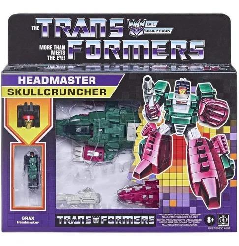 Transformers Retro Decepticon Headmaster Grax - Skullcruncher - Hasbro