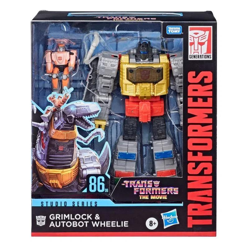 Transformers The Movie Studio Series 86-06 - Classe Leader Grimlock e Autobot Wheelie  Hasbro