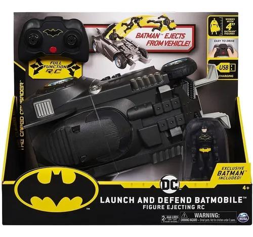 Veiculo DC Batmovel C/ Controle Remoto ( botão função lançador boneco ) e Boneco Batman - Sunny