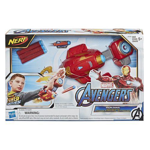 Vingadores Iron Man – Homem Ferro Repulsor Luva Mão Lançador Nerf   Hasbro