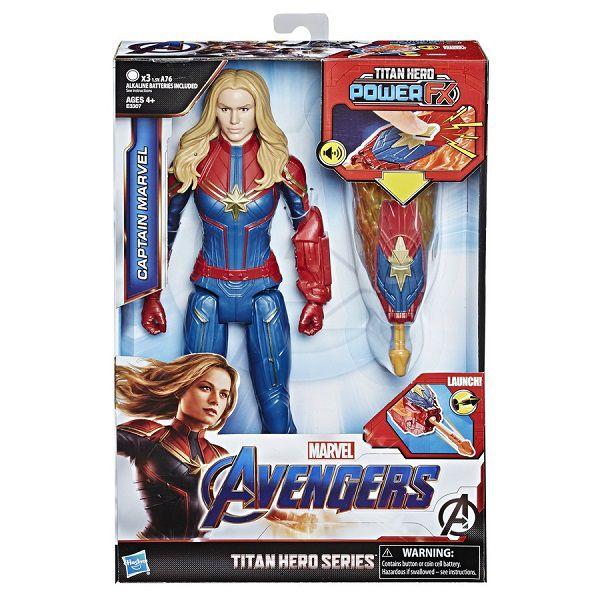 Vingadores Ultimato Capitã Marvel FX  30 cm Com Som Português E Lança Dardo Hasbro