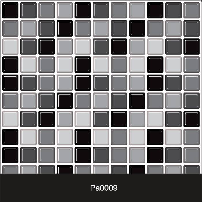 Papel de Parede Auto Adesivo Lavável Pastilha Pa0009 Preta, Branca e cinza  - Final Decor