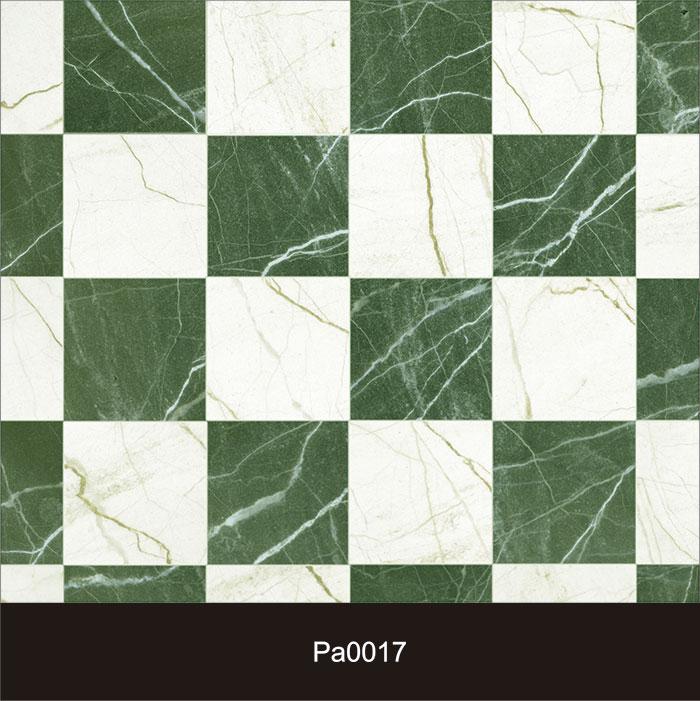 Papel de Parede Auto Adesivo Lavável Pastilha Pa0017 Verde e Branca  - Final Decor