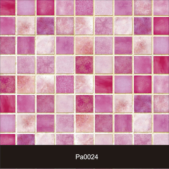 Papel de Parede Auto Adesivo Lavável Pastilha Rosa Pa0024  - Final Decor
