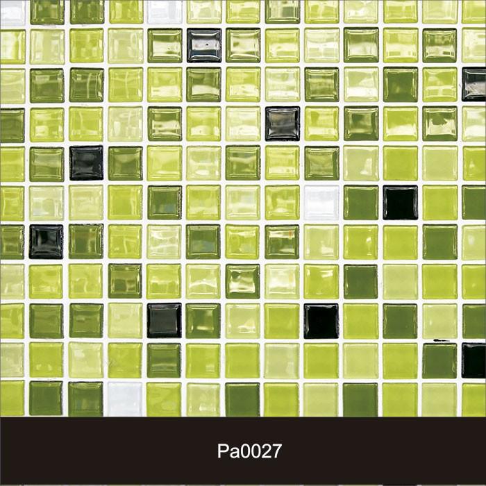 Papel de Parede Auto Adesivo Lavável Pastilha Verde Agua Pa0027  - Final Decor