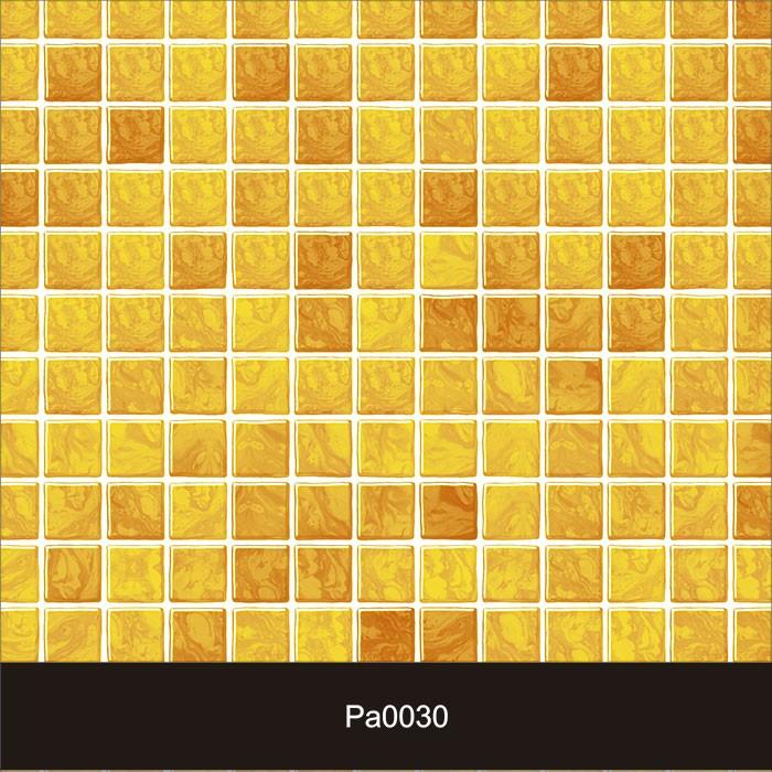 Papel de Parede Auto Adesivo Lavável Pastilha Pa0030 Amarela  - Final Decor