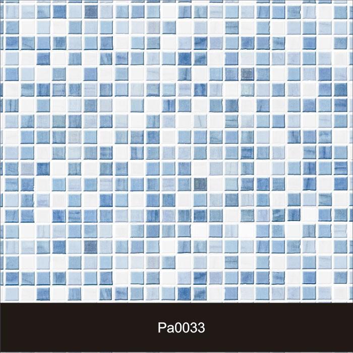 Papel de Parede Auto Adesivo Lavável Pastilha Pa0033 Azul e Branca  - Final Decor