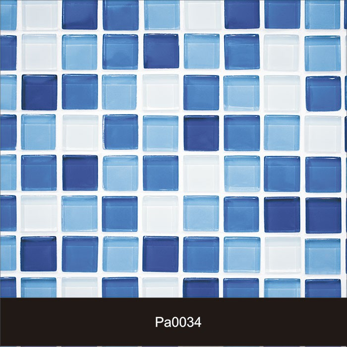 Papel de Parede Auto Adesivo Lavável Pastilha Pa0034 Azul Céu  - Final Decor