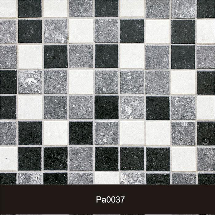 Papel de Parede Auto Adesivo Lavável Pastilha Pa0037 Cinza, Preta e Branca  - Final Decor